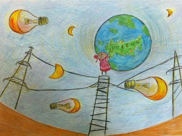 Праздником мамочка, рисунок ко дню энергетика свет приносит радость